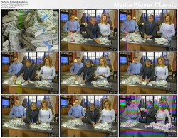 KATHIE LEE GIFFORD stuffing her shirt with cash (vhs: date unknown)