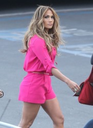 Jennifer Lopez - Arriving to 'American Idol' in Hollywood 4/3/14