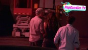 Nina & Derek Hough Holding hands while hiding from Paparazzi at The Roosevelt LA (October 5) 979073319507905