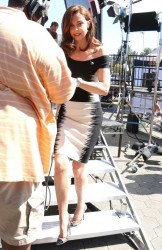 Ashley Judd - On the set of 'EXTRA' in LA 4/7/14