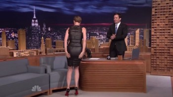 EMILY VANCAMP - TIGHT DRESS - The Tonight Show 04.11.14