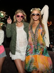 Paris & Nicky Hilton - 2014 Coachella Music Festival: Day Two 4/12/14