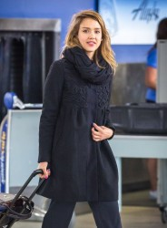 Jessica Alba - At JFK Airport 4/23/14