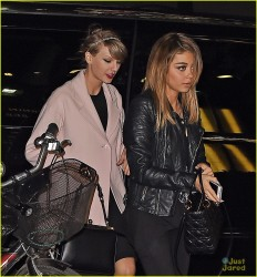 Taylor Swift & Sarah Hyland - Hanging out after seeing the Off-Broadway Play 'Under My Skin' in NYC 4/23/14