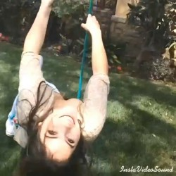 McKayla Maroney Having Fun on a Swing - April 27, 2014