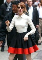 Emma Stone - Arriving to 'Good Morning America' in NYC 4/29/14