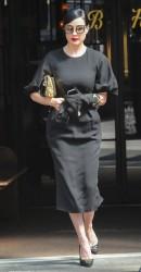 Dita Von Teese - Leaving her hotel in NYC 5/2/14