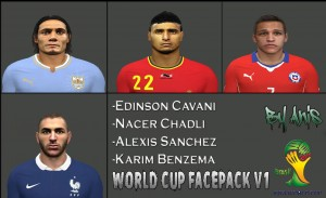 Download PES2014 Face Pack World Cup v1 by Dz Patchers