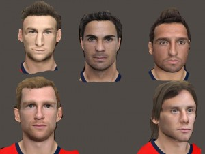 Download PES 2013 Arsenal facepack by Mohamed 7