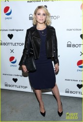 Dianna Agron - Narciso Rodriguez Bottletop Collection in NYC 5/8/14