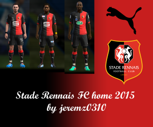 Download PES2013 Stade Rennais FC Home Kits 2015 by jeremz0310