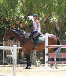 Kaley Cuoco Riding a Horse in Los Angeles on May 14, 2014