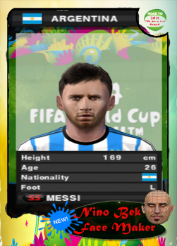 Leo Messi PES 2014 PS2 Face