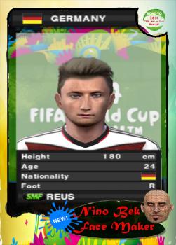 Marco Reus Face PES 2014 PS2