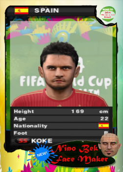 Jorge Resurreccion KoKé PES 2014 PS2 Face