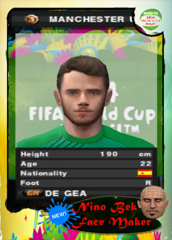 David De Gea PES 2014 PS2 Face