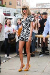 Taylor Swift - flaunting phenomenal legs out in NYC 5/17/14
