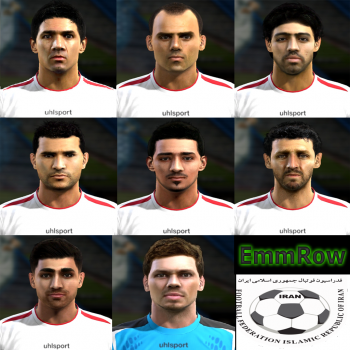 Iran World Cup 2014 PES 2013 Facepack by EmmRow