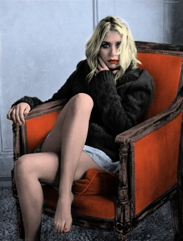 Ashley Olsen - 2 pictures (2 versions)- Colored by me:)