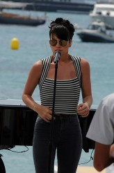 Lily Allen @ Set of Le Grand Journal during 67th Annual Cannes Film Festival - May 21, 2014