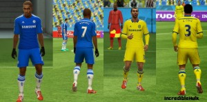 Download PES 2013 Chelsea 14-15 Kits by Allysson Jr
