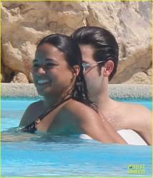 Michelle Rodriguez - Bikini Candids in France 5/23/14