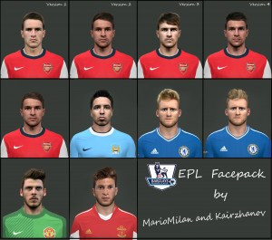 PES 2014 EPL Facepack by MarioMilan and Kairzhanov