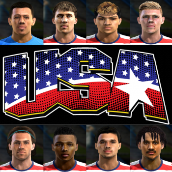 USA World Cup 2014 PES 2013 facepack by EmmRow