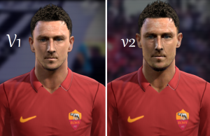 PES 2014 Totti Face By H.B