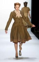 Barbara Meier loses heel @ Lena Hoschek Fashion Show during the Mercedes-Benz Fashion Week 1/19/10