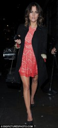 Caroline flack leggy leaving ITV party 7/13/12