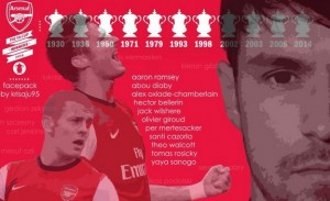 FIFA14 Arsenal FA Cup Winners' Celebration Pack by krisaju95