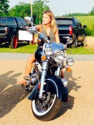 Carrie Underwood On a Motorcycle