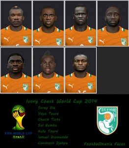 Download Ivory Coast WC 2014 Facepack by Footballmania