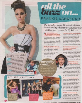 Frankie Sandford - Buzz Magazine Interview 6th November 2010 Scan