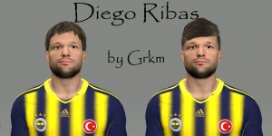 PES 2014 Diego Ribas Face by grkm1