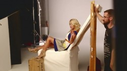 Emily Osment - Young & Hungry Photoshoot Behind The Scenes
