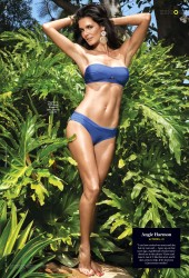 Angie Harmon Wearing a Bikini in US Weekly - June 2014