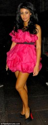 Layla Flaherty at the Aura nightclub in a short pink dress with a upskirt and kissing Toni Awyll and Louise Glover 1/19/12  34 pics inside