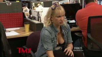 KELLY BERNING - BOOBs - TMZ 2014