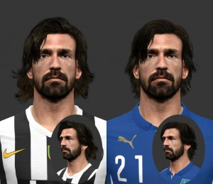 Download Andrea Pirlo Face For PES2014 by Marz_31