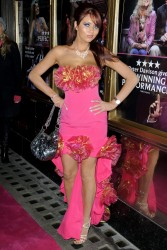 Amy Childs amazing cleavage and almost upskirt at Legally Blonde Musical 11/9/10