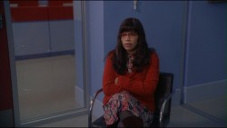 America Ferrera flashing control tops of pantyhose from Ugly Betty s2e8