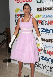 Melaine Sykes looking elegant in pink dress at the Hearts and Minds Charity Ball 11/25/12