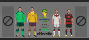 PES 2014 Germany World Cup 2014 Kits by Wuguernalt