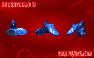 Download PES 2014 adizero F50 blue By MOHAMMAD 78