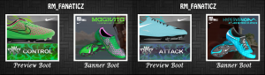 Download Nike Magista Green Pink & Nike Hypervenom Blue 2014 PES 2013 by RM_Fanaticz