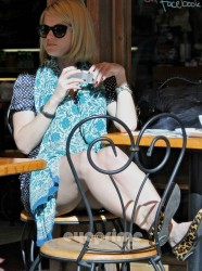 Alice Eve showing off her milky legs and thighs while out and about in Beverly Hills 3/10/12