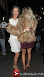 Brooke Vincent and Sacha Parkinson being cute yet sexy together at the Macmillan Centenary Gala Afterparty 11/29/11