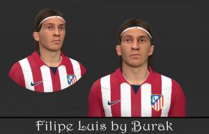 Download Filipe Luis PES2014 Face by Burak